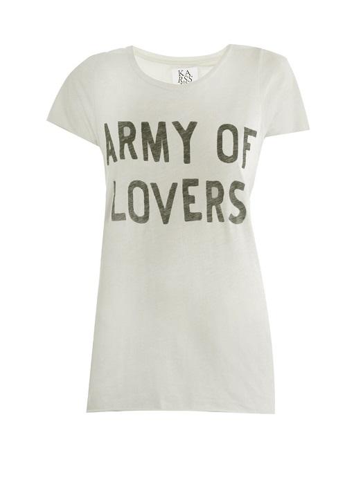 ZOE KARSSEN   Army of Lovers motif t-shirt