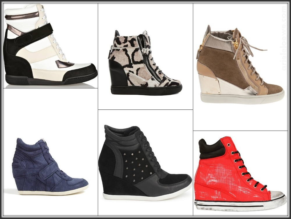High Top Wedge Trainers