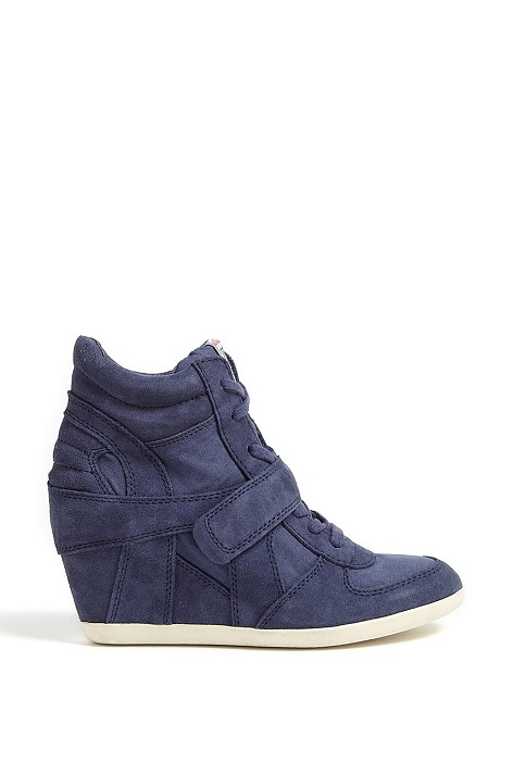 ASH   Bowie suede high top wedge trainer