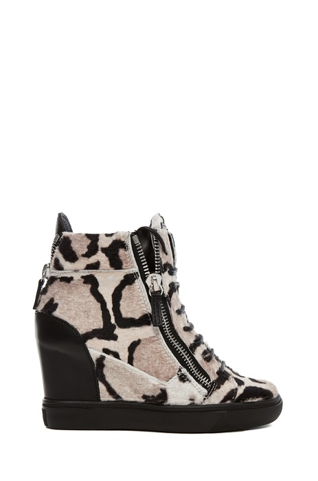 GIUSEPPE ZANOTTI   leopard high top wedge trainer