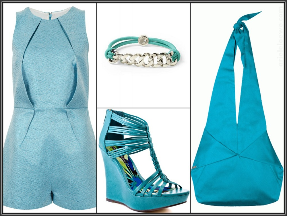 Style For Less TOPSHOP Metallic Origami Playsuit