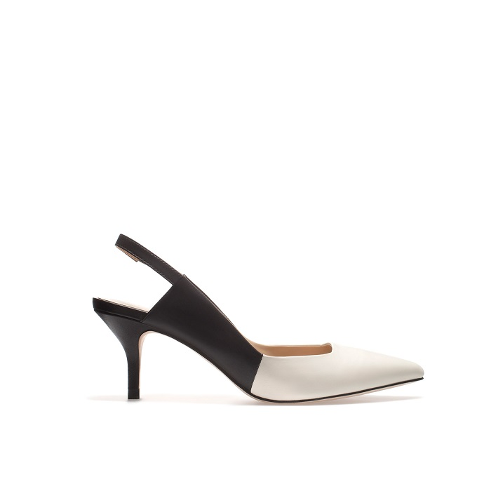 ZARA   two tone slingback kitten heel pumps