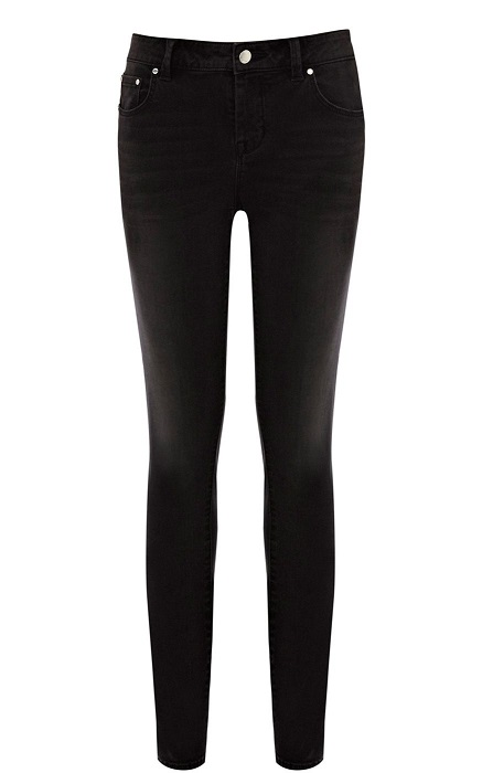 KAREN MILLEN   black washed skinny jeans