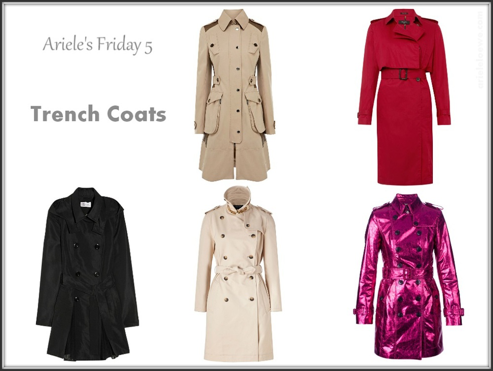 Ariele's Friday 5 Trench Coats