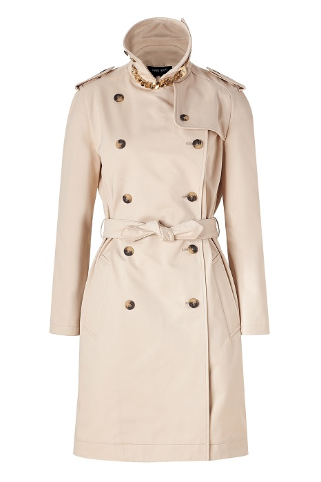 SOPHIE HULME   cotton trench coat with goldplated chain latch
