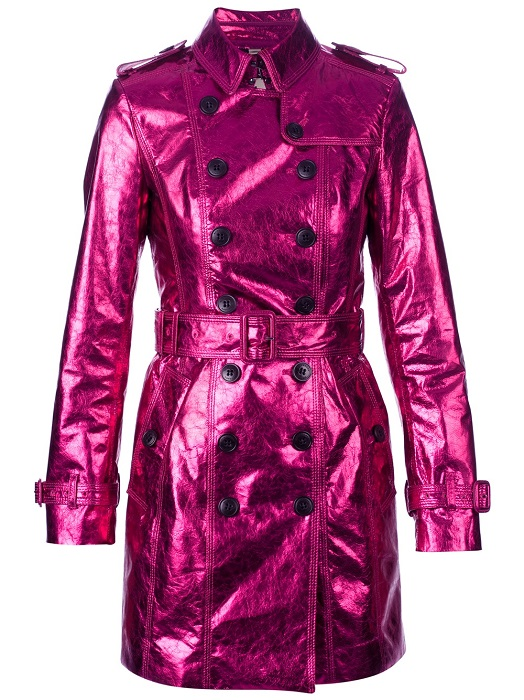 BURBERRY   purple metallic trench