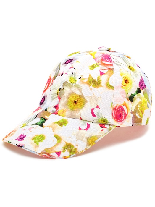 MSGM   floral cotton baseball cap