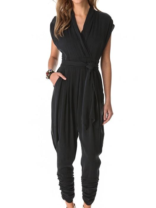 CATHERINE MALANDRINO   cap sleeve jumpsuit