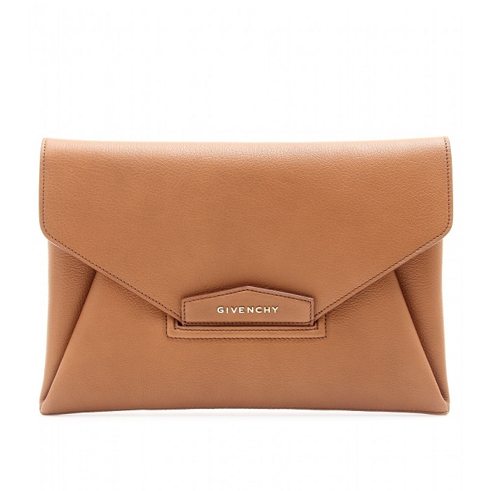 GIVENCHY   brown Antigona envelope clutch