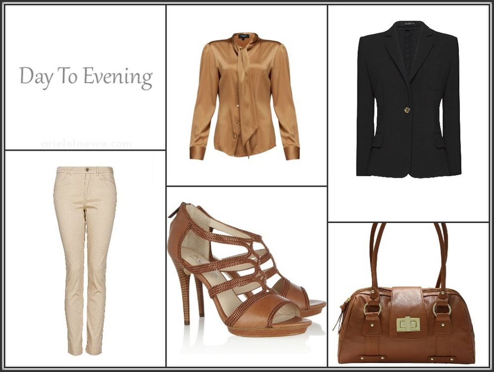 Day To Evening MANGO black blazer, MANGO straight cut trousers, AFTERSHOCK Lavana silk blouse