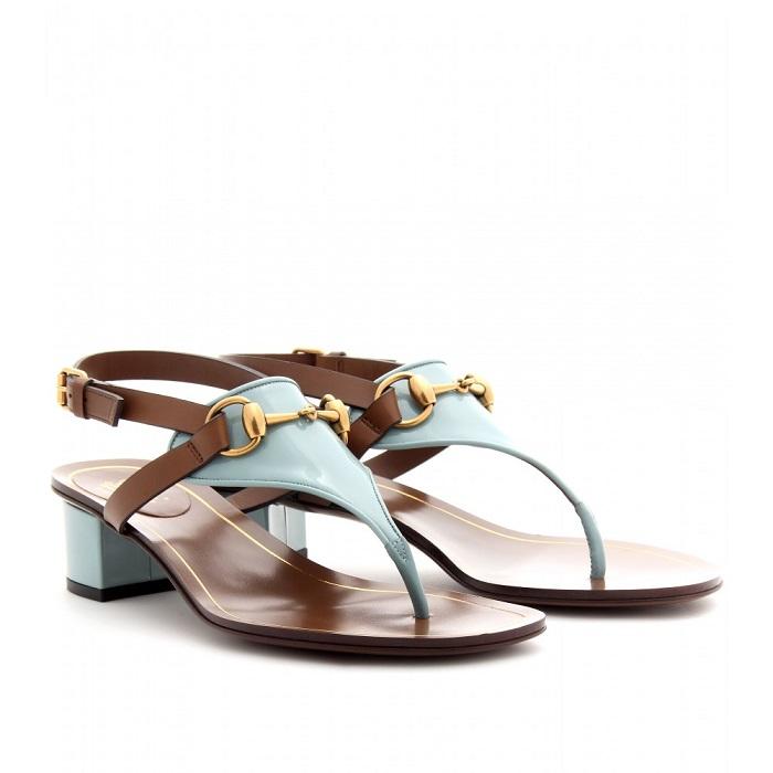 GUCCI   Alyssa block heel thong sandal