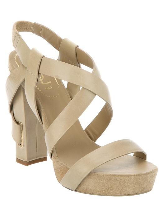 YVES SAINT LAURENT   block heel strap sandal
