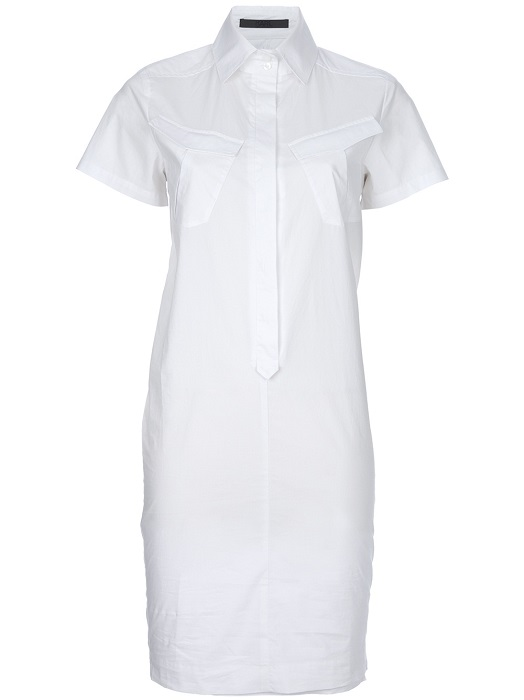 KARL BY KARL LAGERFELD   white shirt dress  40% off