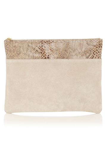 OASIS   suede clutch bag  63% off