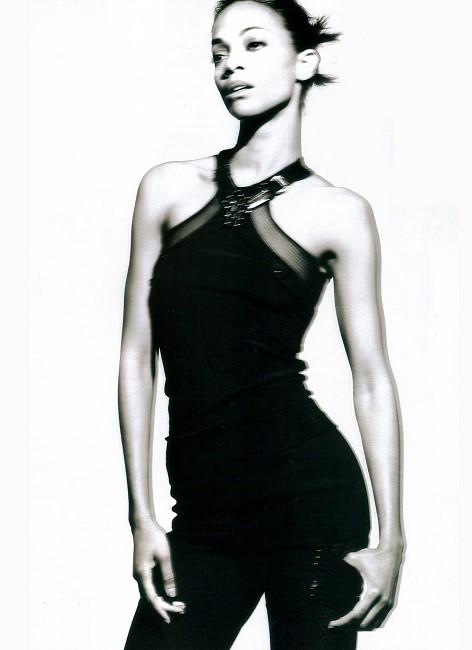 Gregory Harris / Zoe Saldana / Wonderland Magazine / March 2010