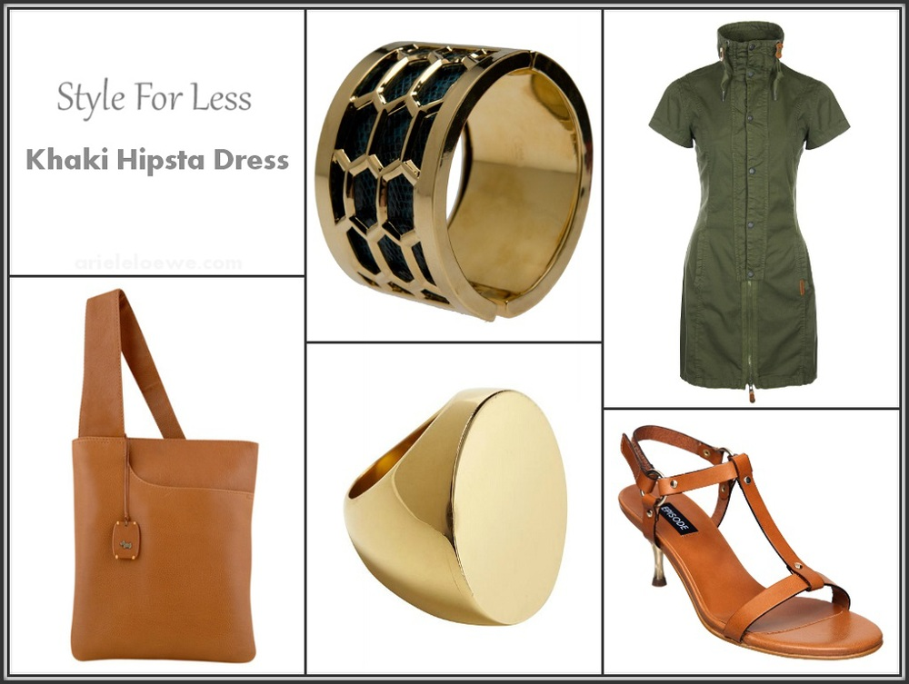 Style for less Bench khaki hipsta shirt dress