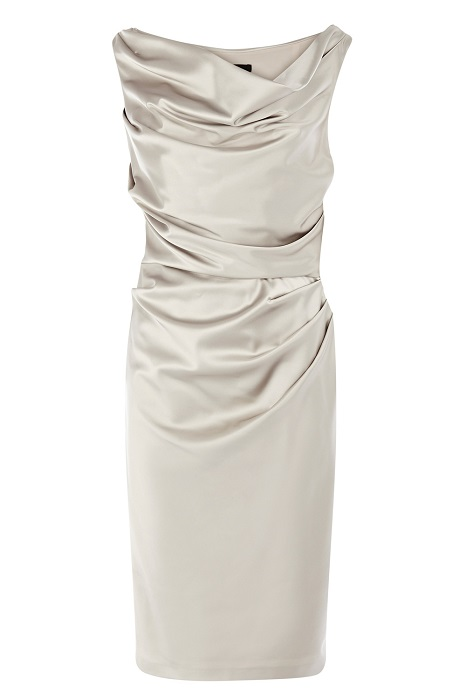 COAST   silver manda duchess satin dress