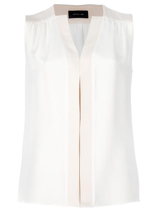 DEREK LAM   white sleeveless blouse