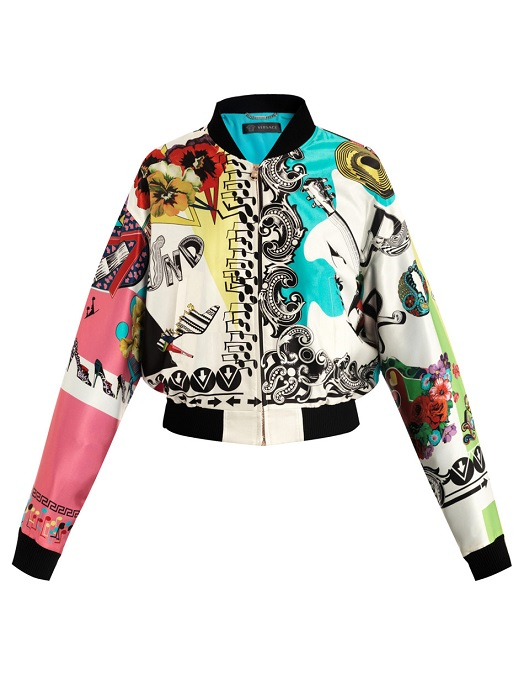 VERSACE   multicolour rock and roll bomber jacket