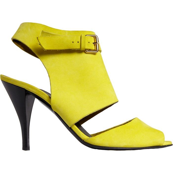 PIERRE HARDY   yellow two-piece peep toe sandal