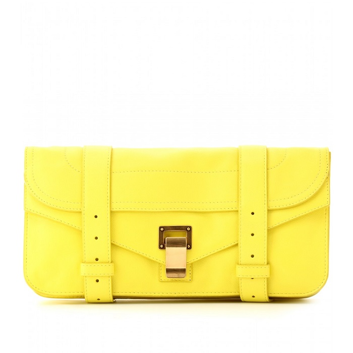 PROENZA SCHOULER   yellow Ps1 leather clutch