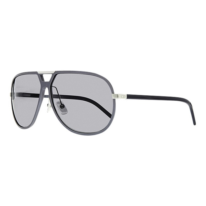 CHRISTIAN DIOR   grey framed retro aviator sunglasses