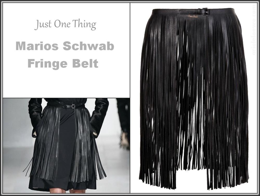 Marios Schwab Fringe Belt