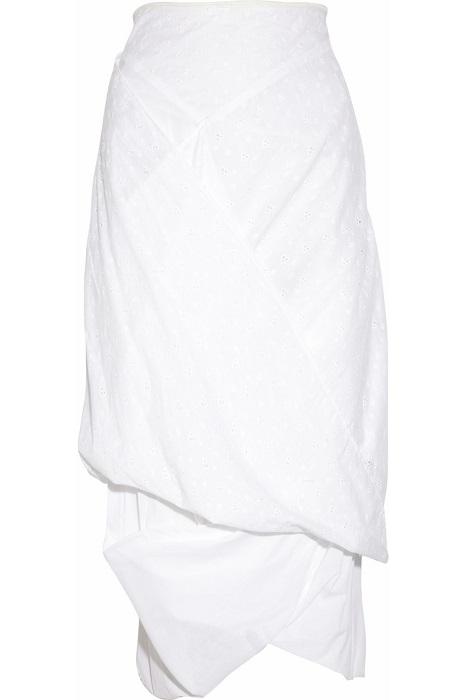 VIVIENNE WESTWOOD ANGLOMANIA   asymmetric cotton midi skirt