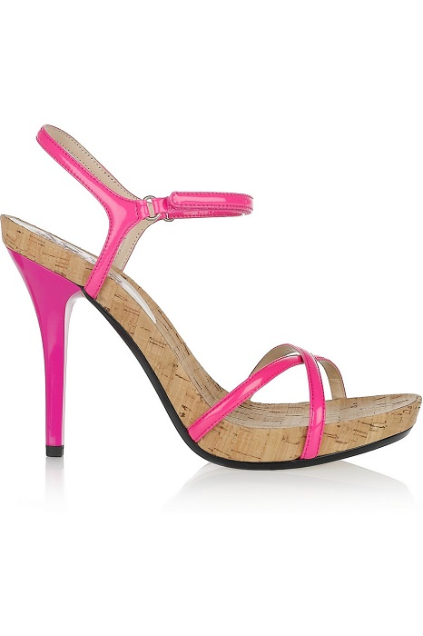 KORS BY MICHAEL KORS   hawker patent leather cork sandals