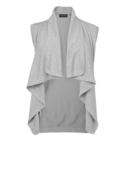 JAEGER   sleeveless silk back biker