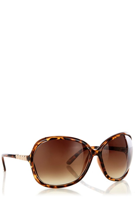 OASIS   brown oversized sunglasses