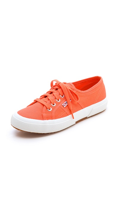 SUPERGA   orange cotu classic sneaker