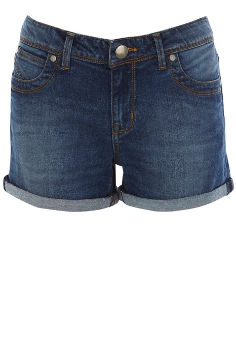 OASIS   blue authentic wash boyfriend shorts
