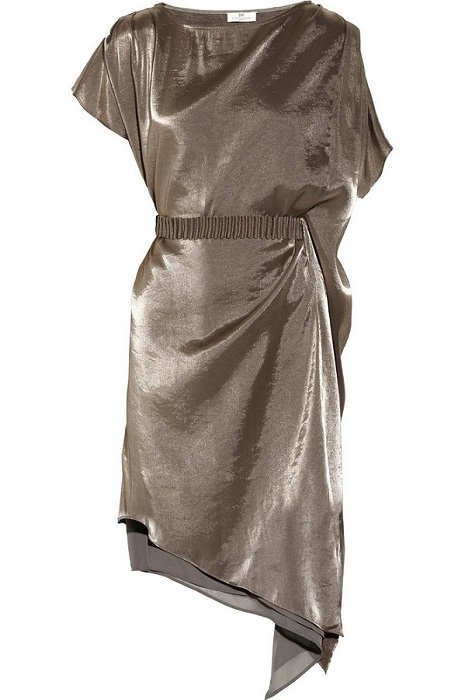 DAY BIRGER ET MIKKELSEN   silver day glowing asymmetric lamé dress