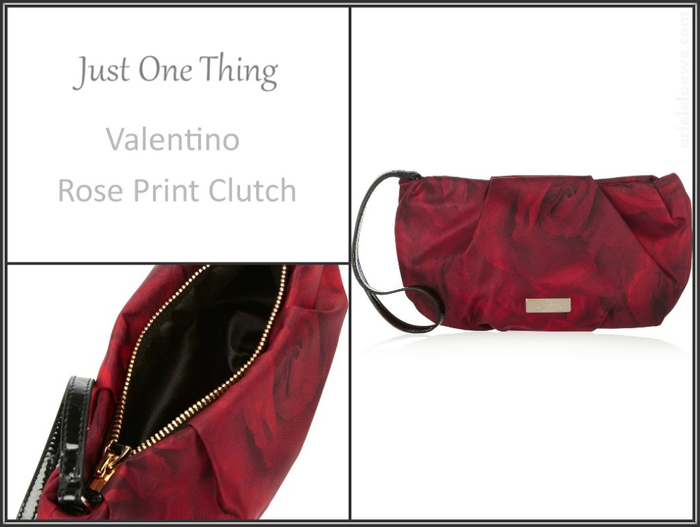 Valentino Rose Print Clutch