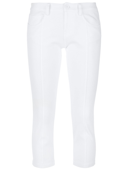 LOVE MOSCHINO   white skinny cropped trouser