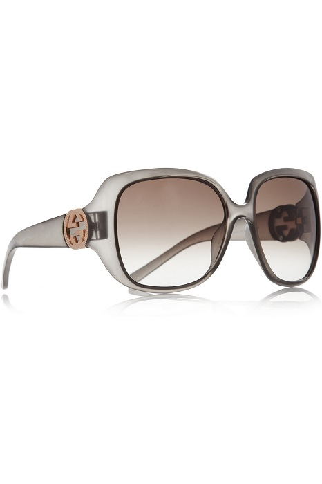 GUCCI   grey oversized square frame sunglasses