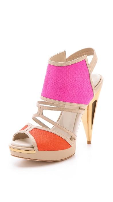 BCBG MAX AZRIA   pink hex high heels