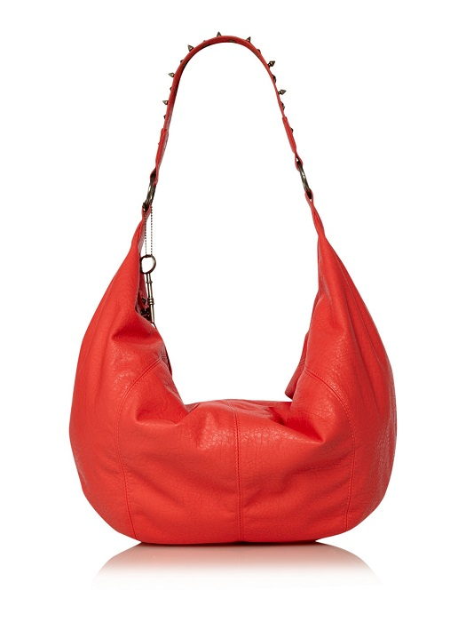 LABEL LAB   red Delyth hobo bag