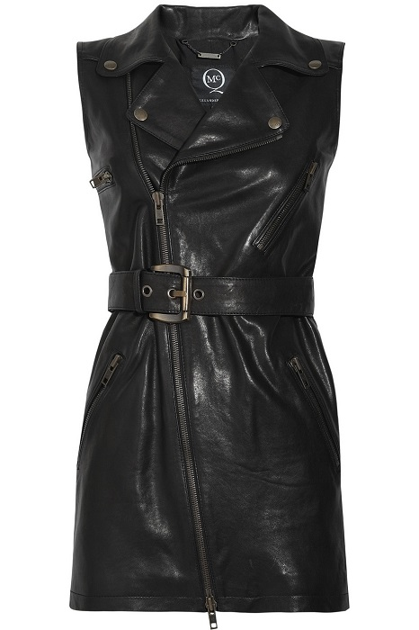 MCQ BY ALEXANDER MCQUEEN   black sleeveless biker jacket