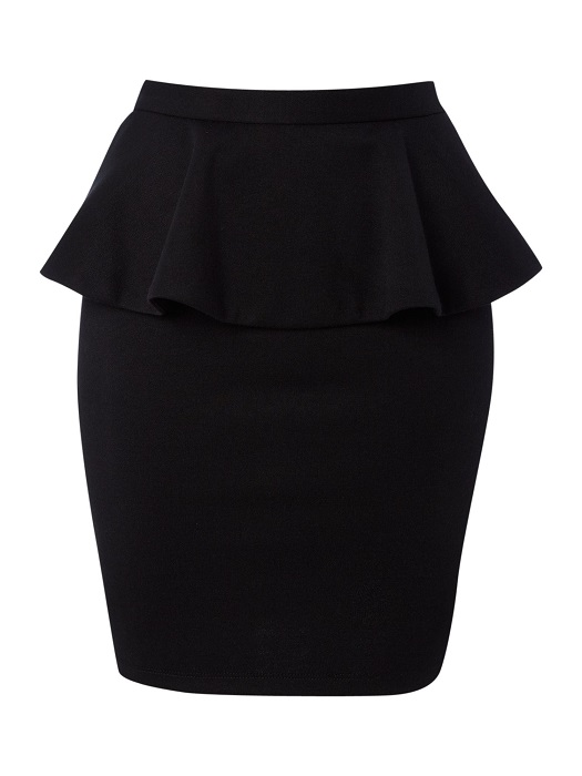 THERAPY   bodycon peplum skirt