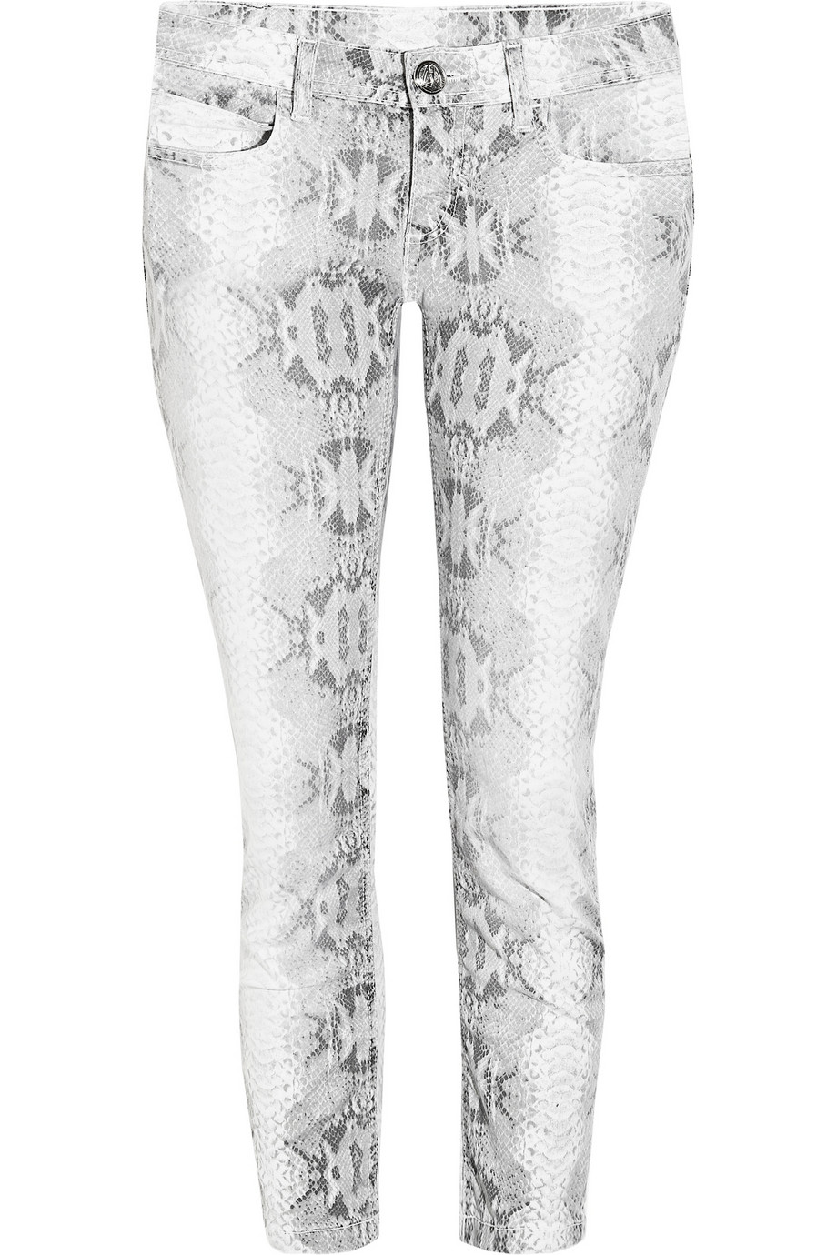 FAITH CONNEXION  snake print cropped skinny jeans