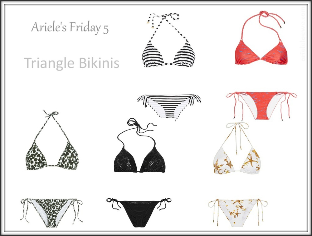 Ariele's Friday 5 Triangle Bikinis