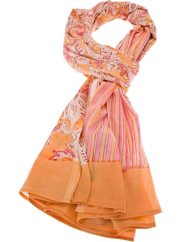 ANTIK BATIK   pareo fiya peach printed scarf