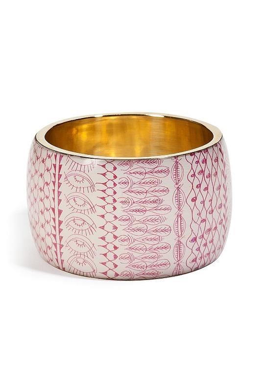ANTIK BATIK   big bracelet bickie fushia