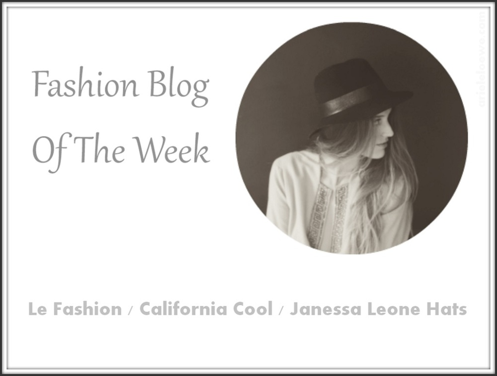 Fashion Blog Of The Week Janessa Leone Hats