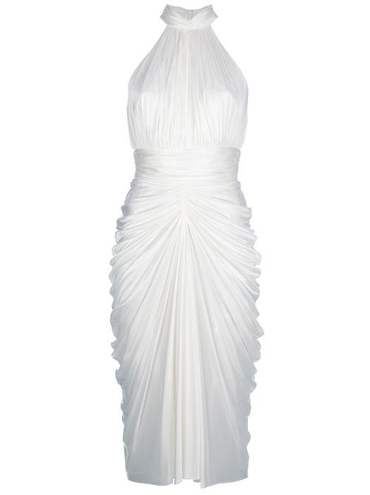 ALEXANDER MCQUEEN   white marilyn halter dress