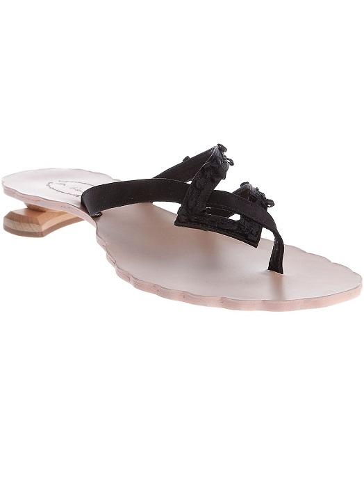 DON CICCILLO   satin strap sandal   currently 50% off