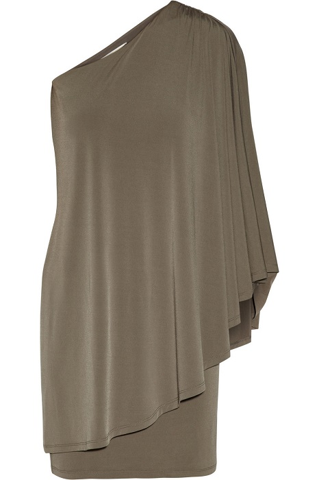 MICHAEL BY MICHAEL KORS   one-shoulder stretch jersey dress   currently 60% off