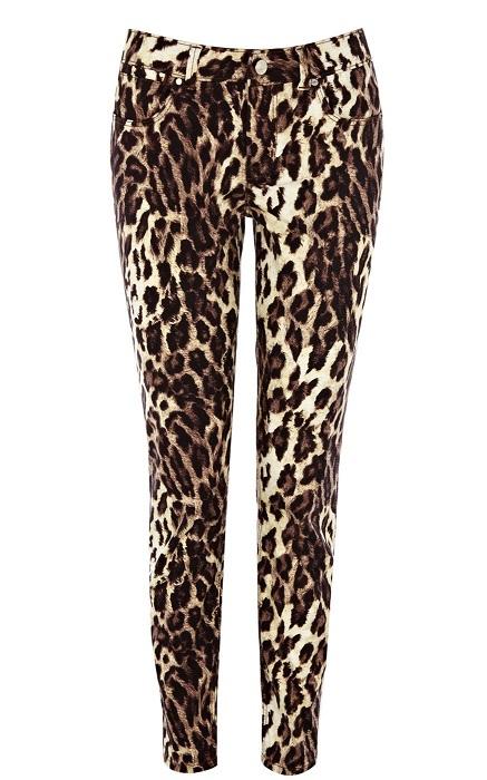 KAREN MILLEN   leopard print jeans